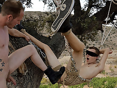 Eyes covered Lad Man Takes A Thick Dick! - Jerk Ashley & Sean Taylor