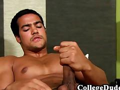 College Guys - Jaime Cortez Spills A Ball sack